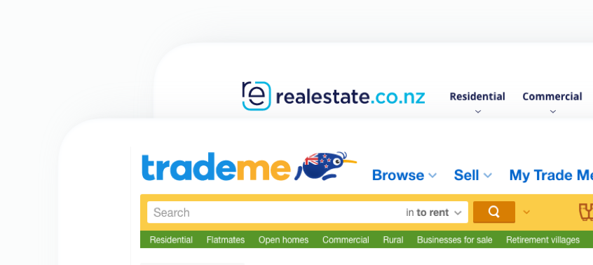 Upgraded listings are posted to Trade Me, realestate.co.nz, OneRoof, trovit.co.nz, and Homes.co.nz