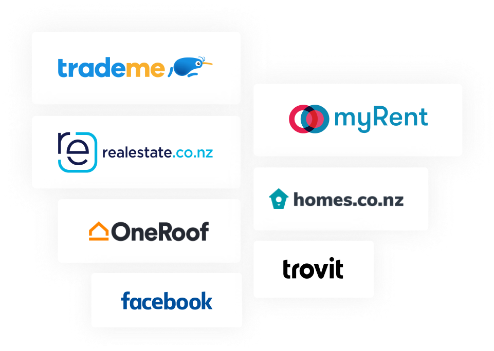 Publish your listing to realestate.co.nz, OneRoof, trovit.co.nz, Homes.co.nz and Trade Me