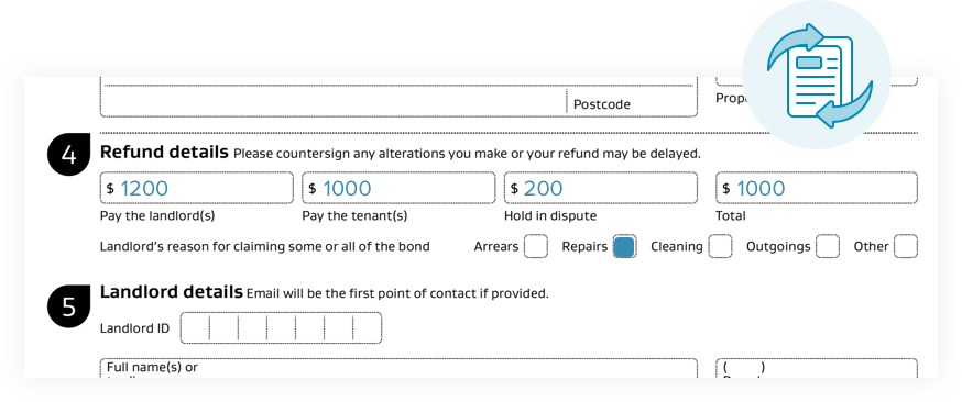 myRent can also generate bond refund forms