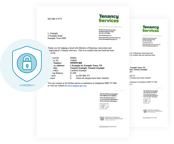 All bond documents are stored securely in myRent